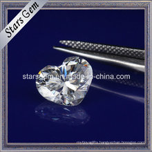 Heart Shape Synthetic Diamond Loose Moissanite for Jewelry